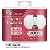 Clearlight - H11 - 12V-55W Night Laser Vision +200% Light
